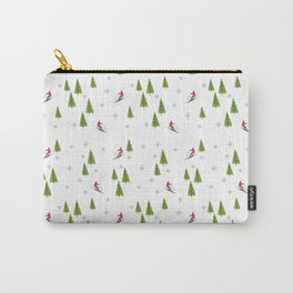 Skis and Pine Trees Carry-All Pouch