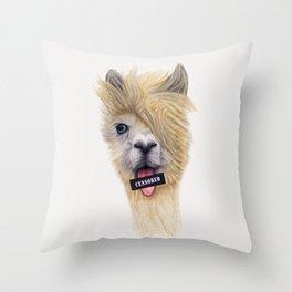 Censored Llama / Llama Censurada Throw Pillow