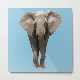 Cutout Elephant  Metal Print