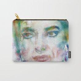 MARIA CALLAS - watercolor portrait Carry-All Pouch