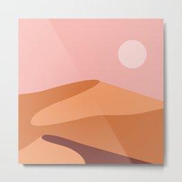Desert dunes retro minimalist design Metal Print