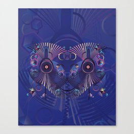 Stylized sound speaker with geometric elements Canvas Print