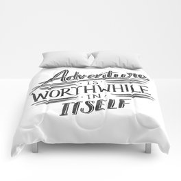 Worthwhile Adventure - Black Comforters