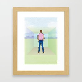 I didn't see the walls and I thought I was free. Framed Art Print