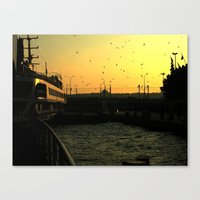 istanbul Canvas Prints featuring Istanbul by habish