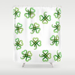 Celtic Clover Shower Curtain