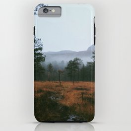 Foggy norwegian forest iPhone Case