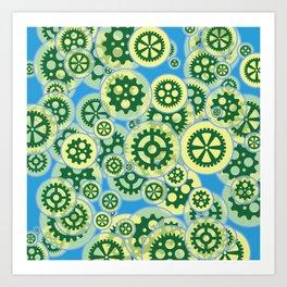 Gearwheels Art Print