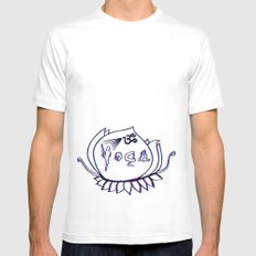 Yoga Mens Fitted Tee SMALL White