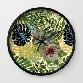 My abstract Aloha Jungle Garden Wall Clock
