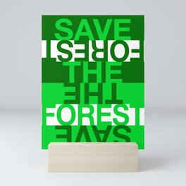 Save the Forest Mini Art Print