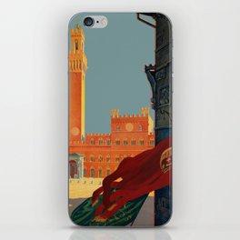 Tuscany - Siena Italy - Vintage Travel iPhone Skin