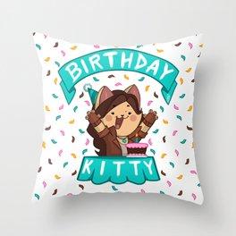 Birthday Kitty (2018) Throw Pillow