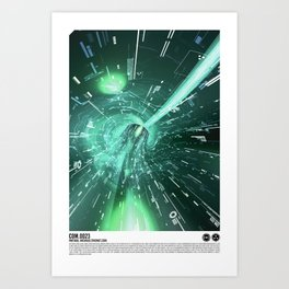 Daydreams Like Mainframes 001: Interface Ethernet Zero Art Print