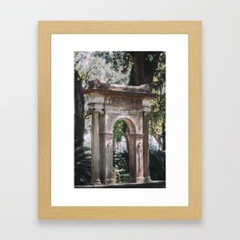 Arch at Bonaventure Cemetery Framed Art Print