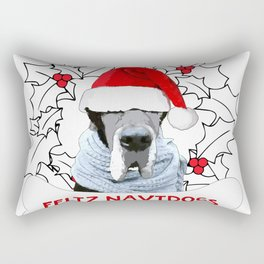 Feliz Navidog Rectangular Pillow