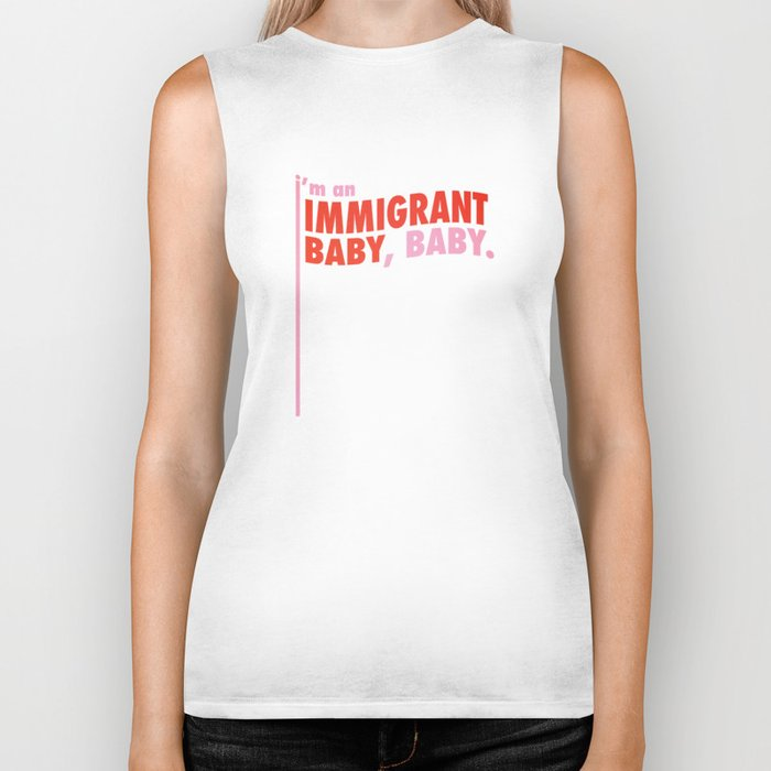 Immigrant Baby Biker Tank