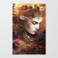 autumn Canvas Prints featuring Autumn by AlexToothArt