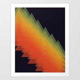 Mountains and rainbows Art Print