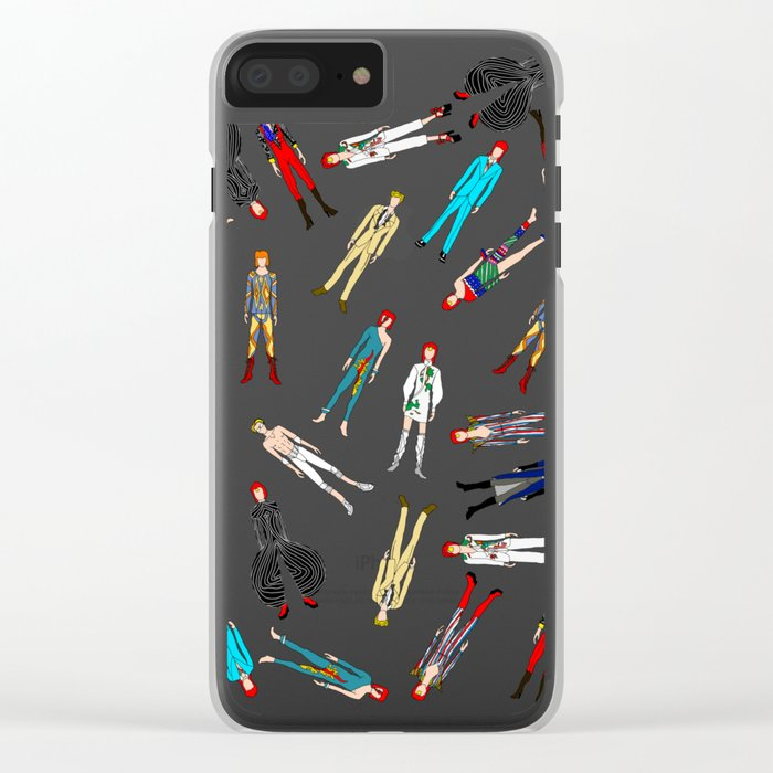 Floating Heroes Clear iPhone Case