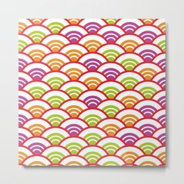 Seigaiha or seigainami literally means wave of the sea. Abstract japanese scales Metal Print