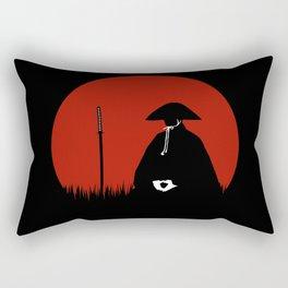 Meditating Samurai Warrior Rectangular Pillow