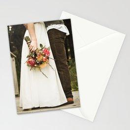 flowers on bridge Stationery Cards