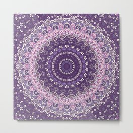 Purple Lace Mandala Metal Print