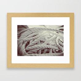 Sailing Rope Framed Art Print