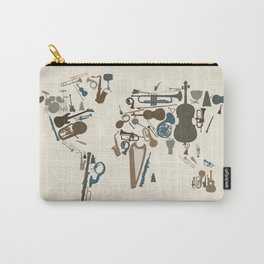 Musical Instruments Map of the World Carry-All Pouch