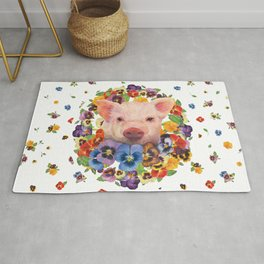 Pansy Pig Rug
