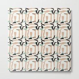 Walk about - Fabric pattern Metal Print