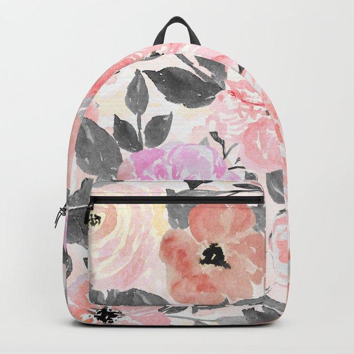 Elegant simple watercolor floral Rucksack