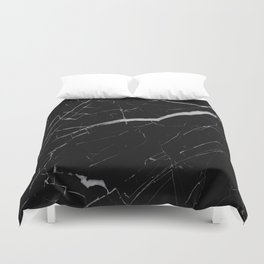 Black Marble Duvet Cover