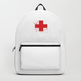 Give Blood Play Hockey Ice Hockey Player Gift Backpack