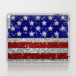 Glitter Sparkle American Flag Pattern Laptop & iPad Skin