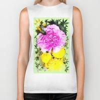 blossom Biker Tanks featuring Blossom by Art-Motiva
