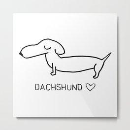 Dachshund Love Metal Print