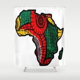 Rasta Africa Map Shower Curtain