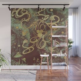 Epiphycadia VI: Copper Wall Mural