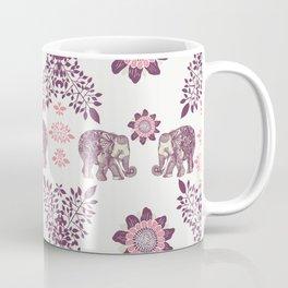 Boho Pink Elephants Coffee Mug