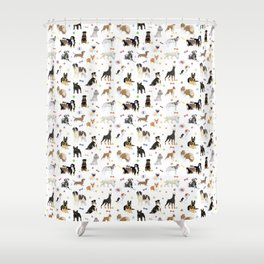 Various Dogs Pattern Shower Curtain