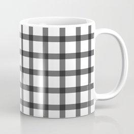 black and white plaid Coffee Mug