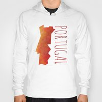 portugal Hoodies featuring Portugal by Stephanie Wittenburg