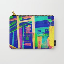 Industrial Abstract Blue Carry-All Pouch