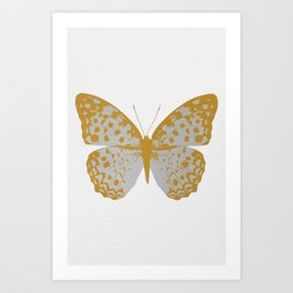 Silver Butterfly Art Print