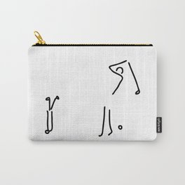 golfer on golf course Carry-All Pouch