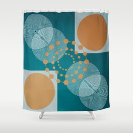 Law Of Attraction - Abstract Geometric Circles Shower Curtain