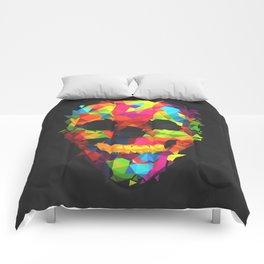 Meduzzle: Colorful Geometry Skull Comforters