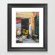 The Two Yellow Chairs Framed Art Print